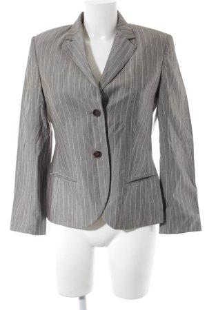 René Lezard Blazer en laine gris-rose chair rayure fine style d'affaires