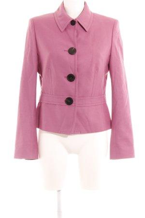 René Lezard Woll-Blazer rosa Business-Look