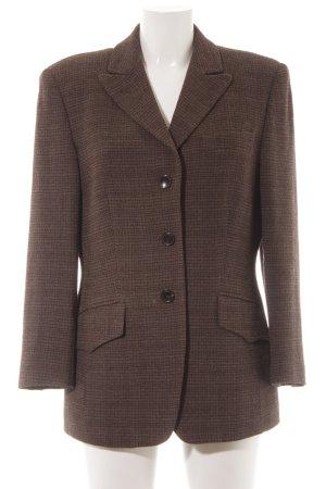 René Lezard Blazer in lana nero-marrone motivo a quadri stile professionale