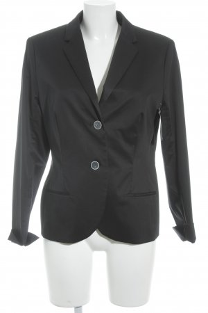 René Lezard Woll-Blazer schwarz Business-Look