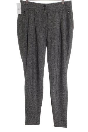 René Lezard Pantalon en laine gris brun-blanc style d'affaires