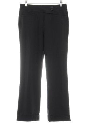 René Lezard Wollen broek zwart zakelijke stijl