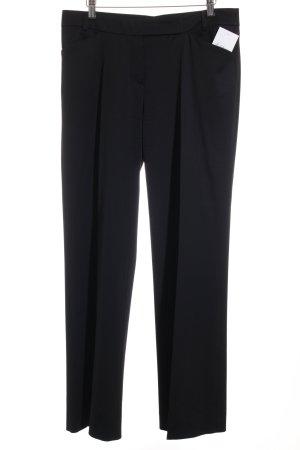 René Lezard Pantalon en laine noir élégant