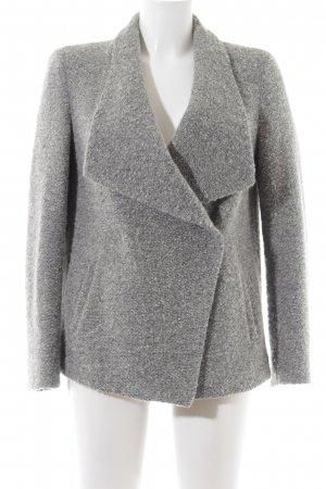 René Lezard Wolljacke hellgrau meliert Business-Look