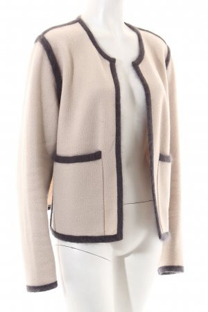 René Lezard Wolljacke beige-dunkelgrau Business-Look