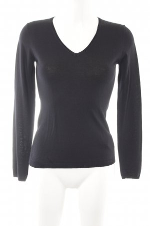 René Lezard Wool Sweater black simple style