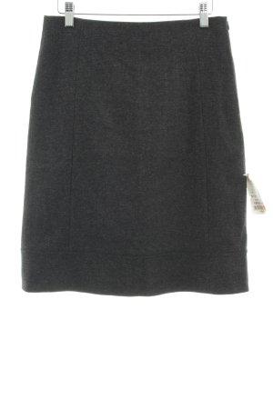 René Lezard Wollen rok antraciet-grijs gestippeld zakelijke stijl