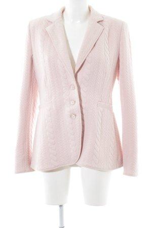 Renzo Jerseyblazer pink Zopfmuster Casual-Look