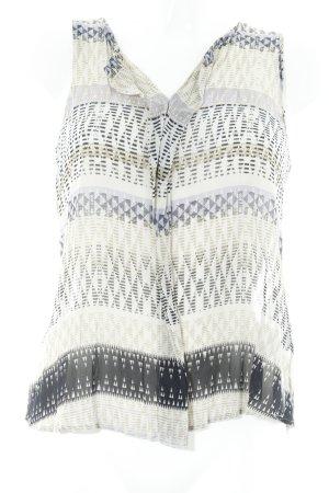 Repeat ärmellose Bluse abstraktes Muster schlichter Stil