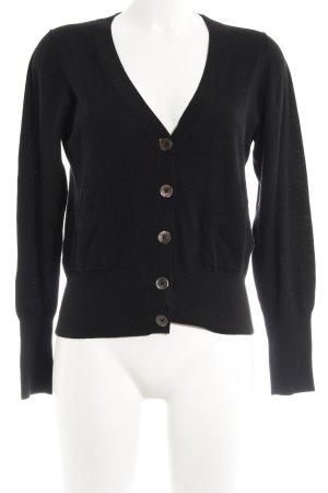Repeat Cardigan schwarz schlichter Stil