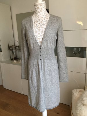 Repeat Cashmere Knitted Coat light grey cashmere