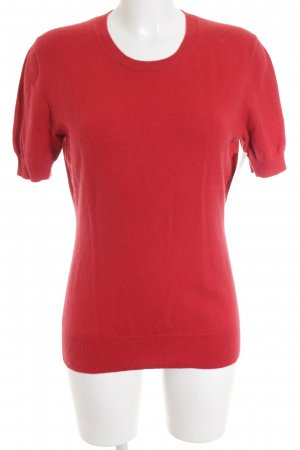 Repeat Cashmere Short Sleeve Sweater red-dark red casual look