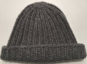 Repeat Cashmere Knitted Hat grey cashmere