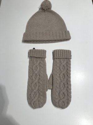 Repeat Cashmere Set Mütze und Handschuhe