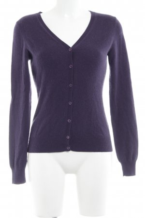 Repeat Cashmere Strick Cardigan purpur Casual-Look
