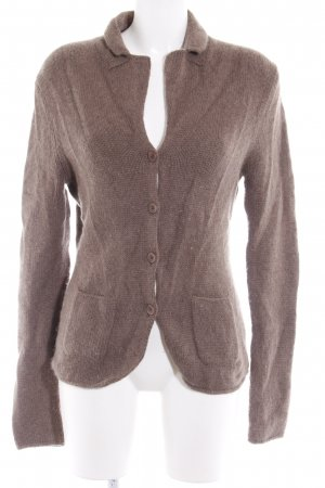 Repeat Cashmere Strickjacke dunkelbraun Business-Look