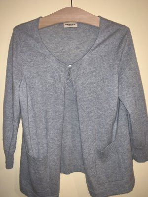 Repeat Cashmere Knitted Vest light grey-azure