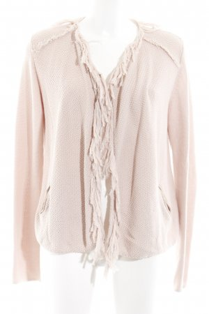 Repeat Fringed Vest dusky pink casual look