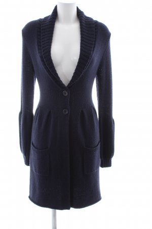 Repeat Coarse Knitted Jacket blue casual look