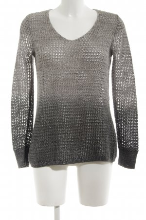 Repeat Coarse Knitted Sweater light grey-black weave pattern casual look