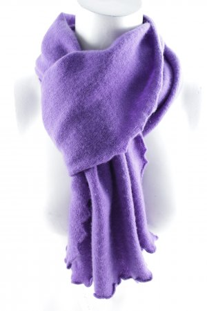 Repeat Sjaal van kasjmier lila pluizig