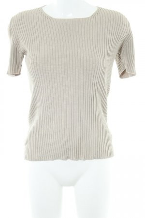 Repeat Kurzarmpullover hellbeige Casual-Look
