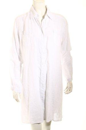 Repeat Long-Bluse weiß schlichter Stil
