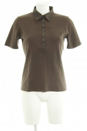 Repeat Polo shirt khaki casual uitstraling