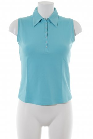 Repeat Polo Top light blue casual look