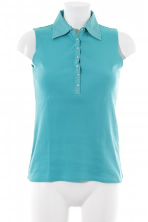 Repeat Polo Top turquoise casual look