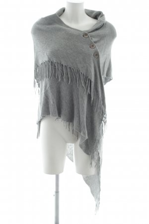 Repeat Poncho lichtgrijs casual uitstraling