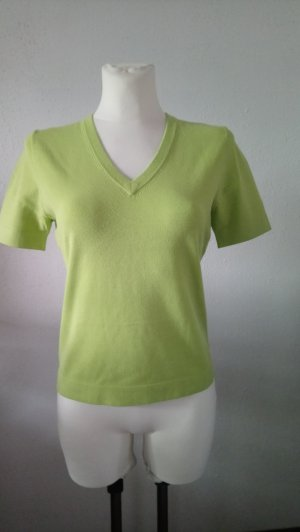 REPEAT Pulli Kurzarm Lime Punch Trendfarbe