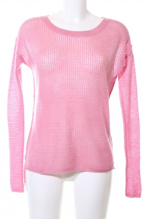Repeat Rundhalspullover pink Casual-Look