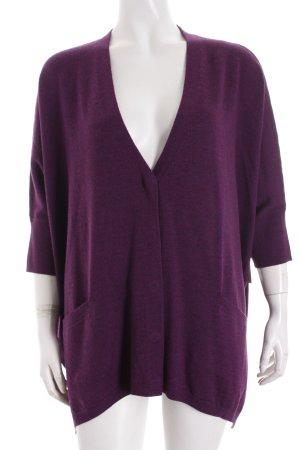 Repeat Strick Cardigan dunkelviolett-violett schlichter Stil