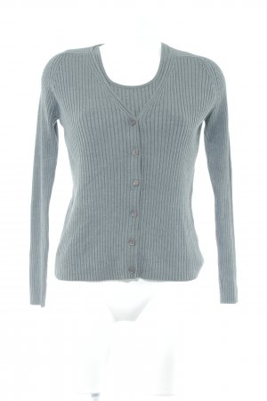 Repeat Knitted Twin Set grey cable stitch classic style