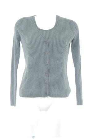 Repeat Ensemble en tricot gris torsades style classique