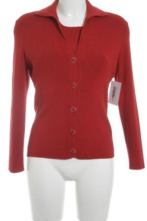 Repeat Twin set in maglia rosso stile casual