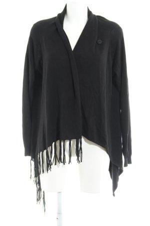 Repeat Bolero lavorato a maglia nero stile casual
