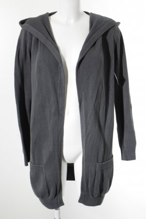 Repeat Strickjacke graublau Casual-Look