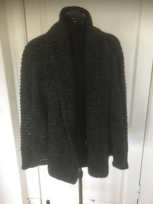 Repeat Coarse Knitted Jacket anthracite mixture fibre