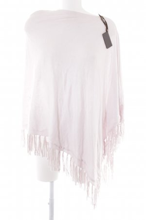 Repeat Strickponcho rosé Casual-Look