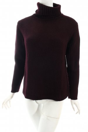 Repeat Strickpullover braunviolett Casual-Look