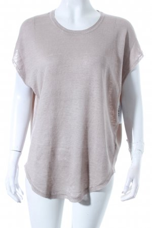 Repeat Strickshirt grau-hellbeige Materialmix-Look
