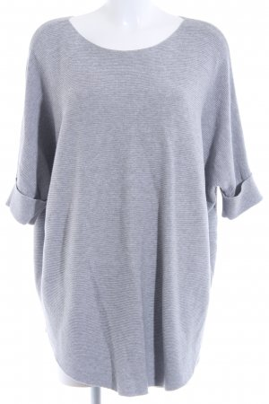 Repeat Knitted Jumper light grey flecked fluffy
