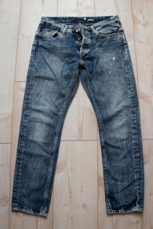 Replay 27 Damen Women's WX693.000.072 243 Straight Jeans Boyfit LEENA Hose Denim