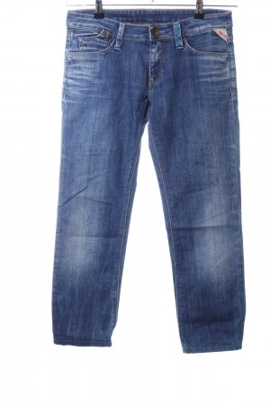 Replay 3/4-jeans blauw casual uitstraling