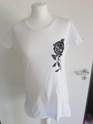 Replay Camiseta blanco-negro