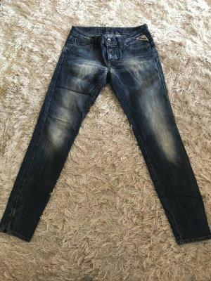 Replay 7/8-Jeans mit Reißverschlussabschluss am Bein