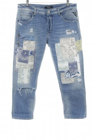 Replay Jeans a 7/8 stampa stile povero