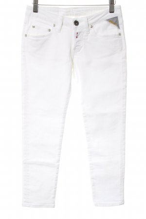 Replay Jeans a 7/8 bianco stile casual
